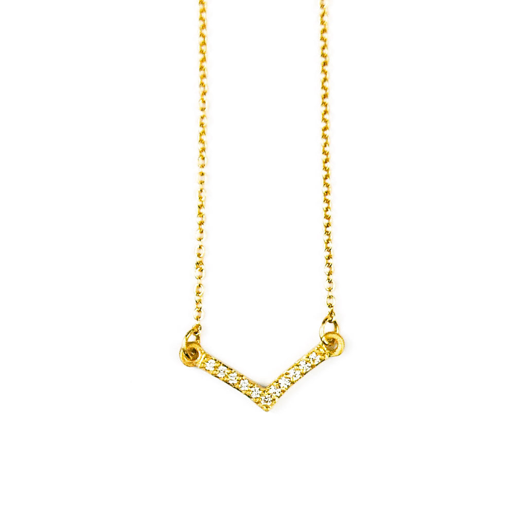 MINI PAVE FALLING STAR NECKLACE