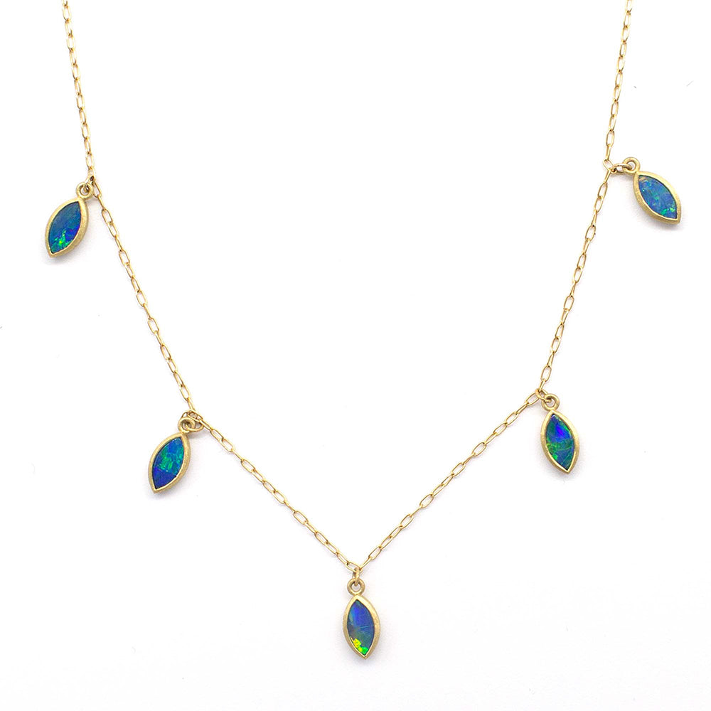 OPAL PETAL DROP NECKLACE