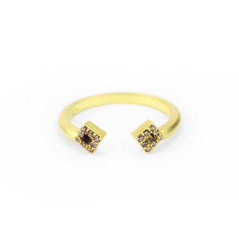 SPLIT PAVE STAR BAND - FINAL SALE
