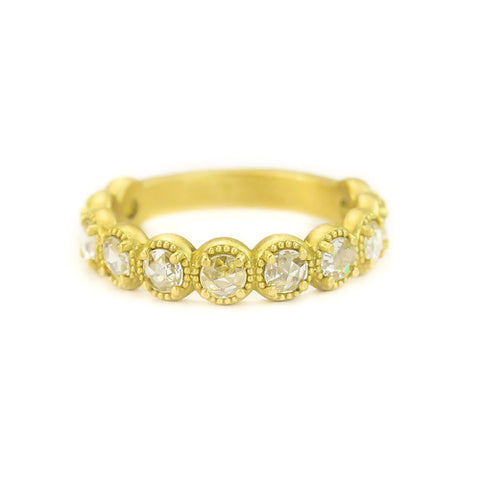 BEADED BEZEL DIAMOND BAND