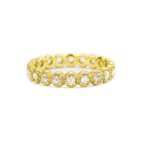 MINI BEADED BEZEL DIAMOND BAND