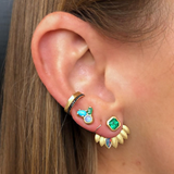 CONSTELLATION CLUSTER STUD: OPAL + EMERALD + TURQUOISE