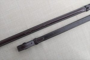Black Oak Fancy Stitching Raised Laced Reins