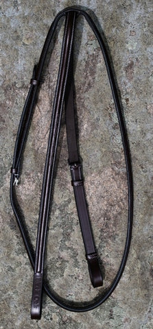 Black Oak Fancy Stitching Raised Standing Martingale