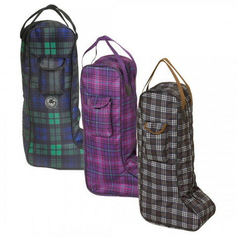 Classic Plaid Tall Boot Bag