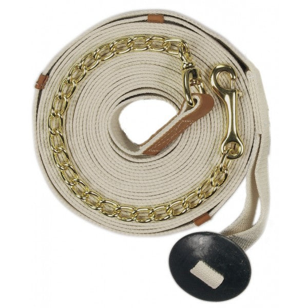 Poly-Cotton Web 35' Lunge Line w-Chain