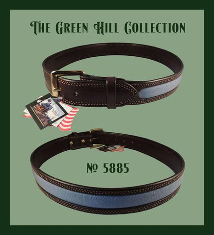 The Green Hill Collection Windowpane Belt
