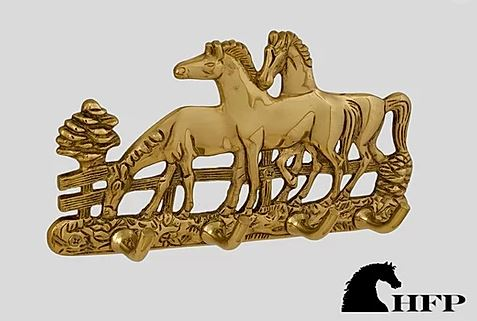 Brass Horse Key Rack