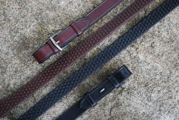"Red Barn 3/4"" Pebble Grip Rubber Reins"