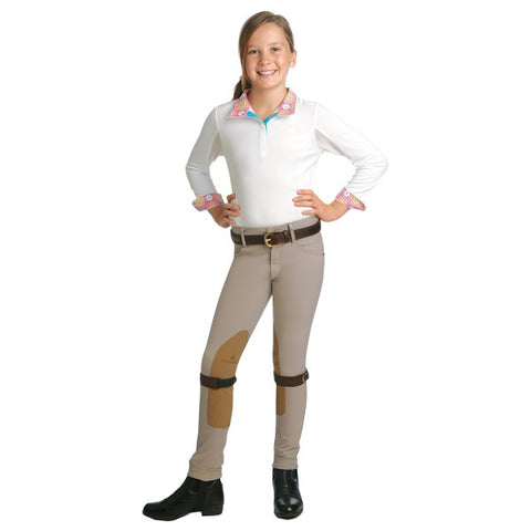 ROMFH Child's International Front Zip Euro Seat Knee Patch Jodhpur