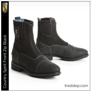 CLOSEOUT - Tredstep Spirit Front Zip Country Boots