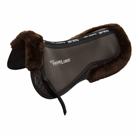ThinLine®Trifecta Half Pad with Sheepskin Rolls Half Pad