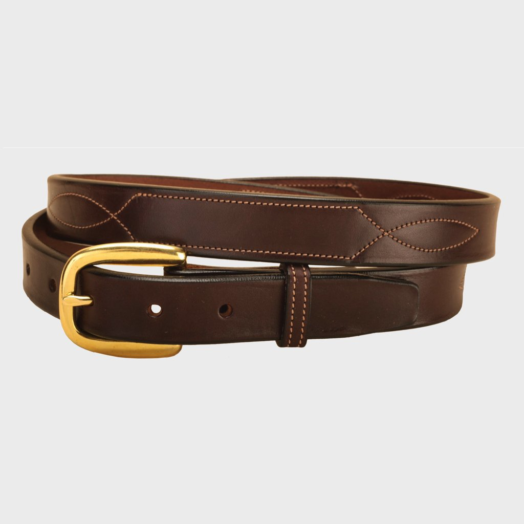 "Tory Leather 3/4"" Nameplate Belt"