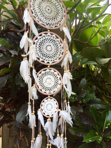 Crochet Natural Heart Dreamcatcher