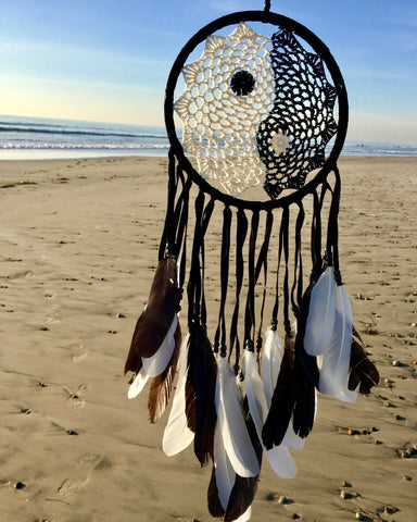 Rainbow Crochet Dreamcatcher