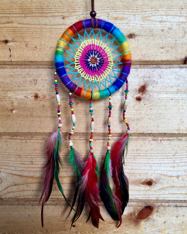Pastel Crochet Ratan Dreamcatcher Large