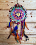 Rainbow Crochet Ratan Dreamcatcher Medium