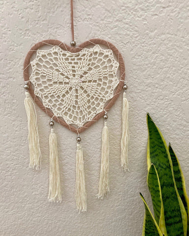 Double Raffia Crochet Dreamcatcher