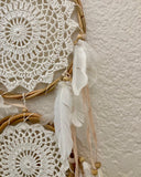 Triple Ratan Crochet Dreamcatcher