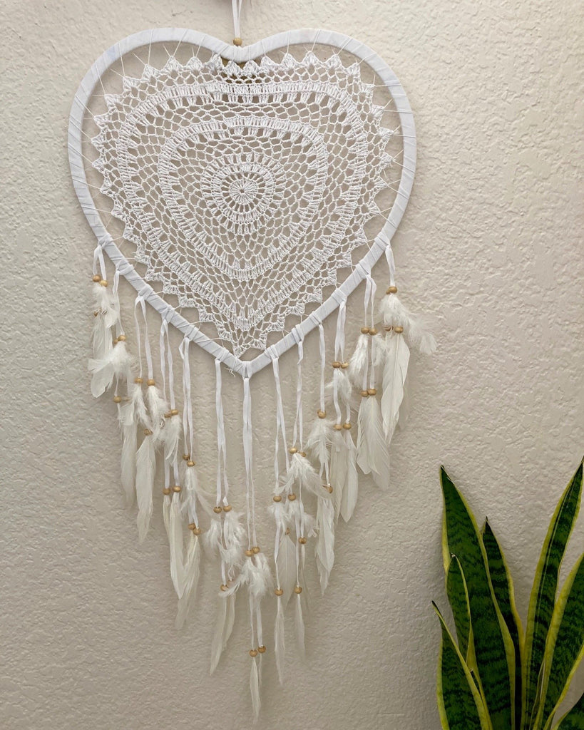 Large Heart Crochet Dreamcatcher