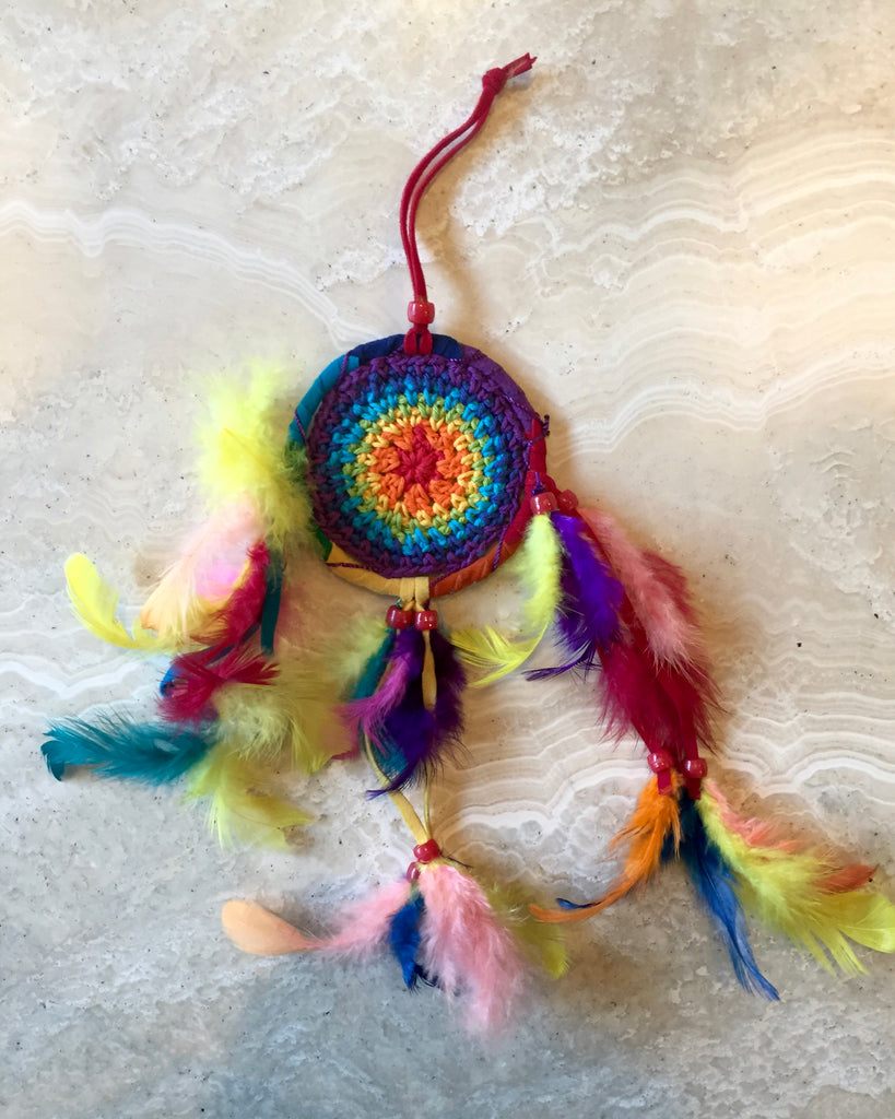 Rainbow Crochet Dreamcatcher - X-Small
