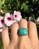 Silver & Turquoise Grateful Ring