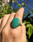 Turquoise Groove Ring