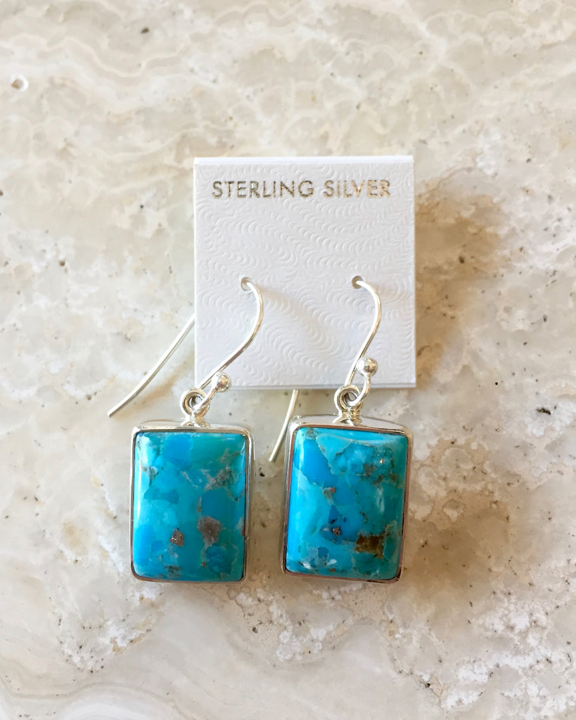 Kingman Turquoise Karma Earrings