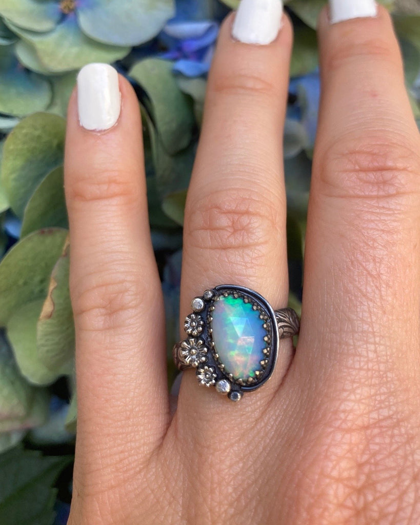 Sterling Silver & Ethiopian Opal Ring