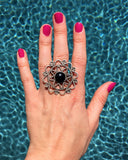 Turkish Faux Onyx Ring