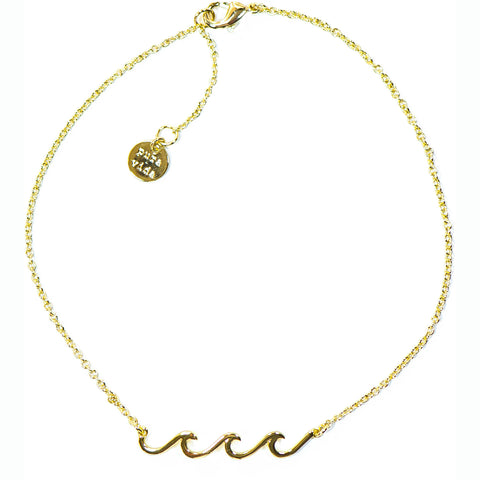 Pura Vida Wave Coin Necklace