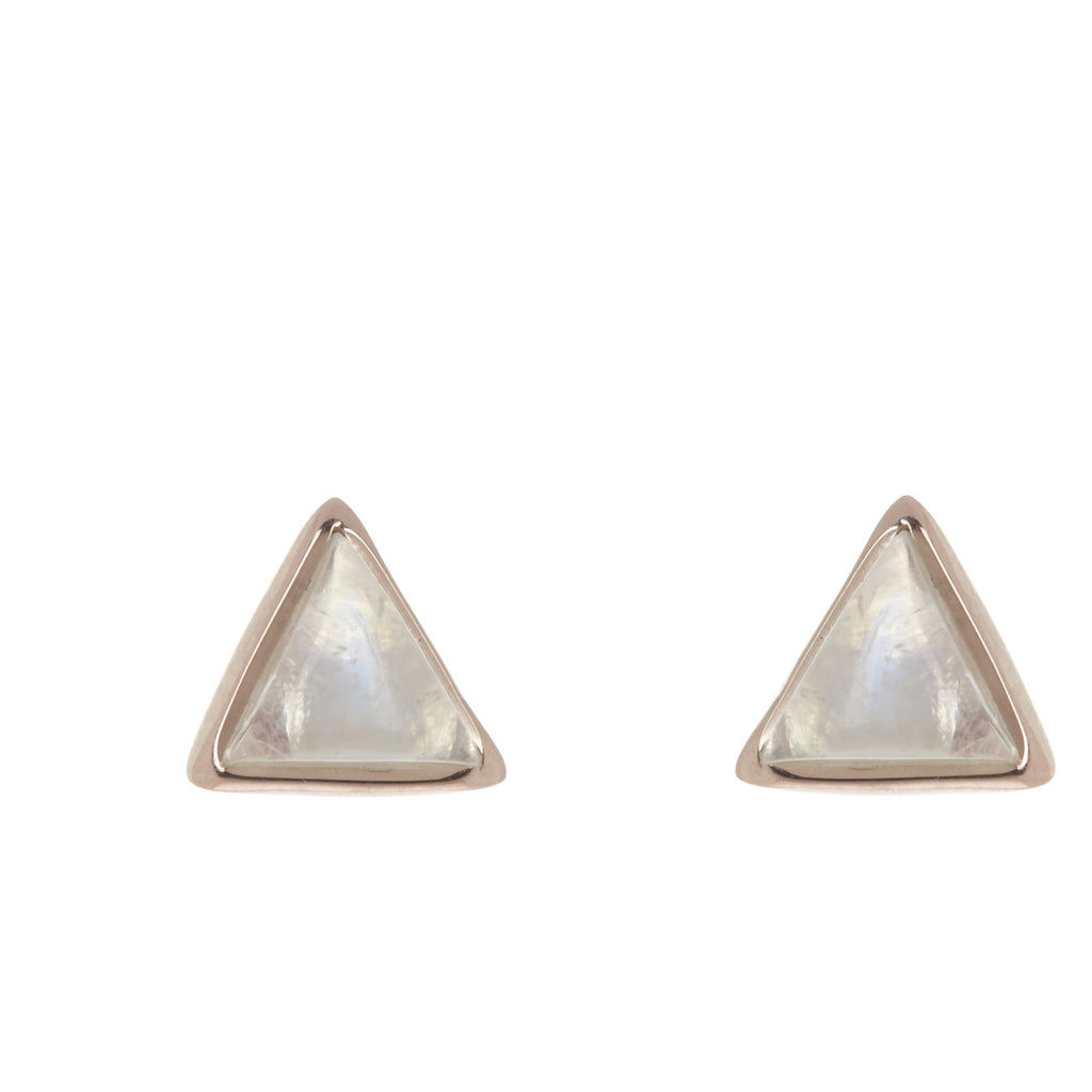 Pura Vida Gemstone Triangle Stud Earrings