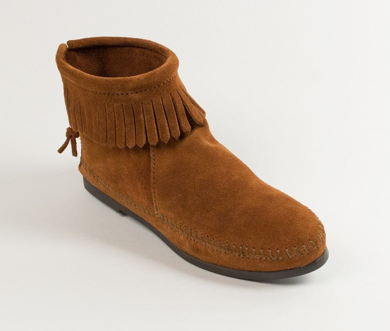 Back Zip Hardsole Boot