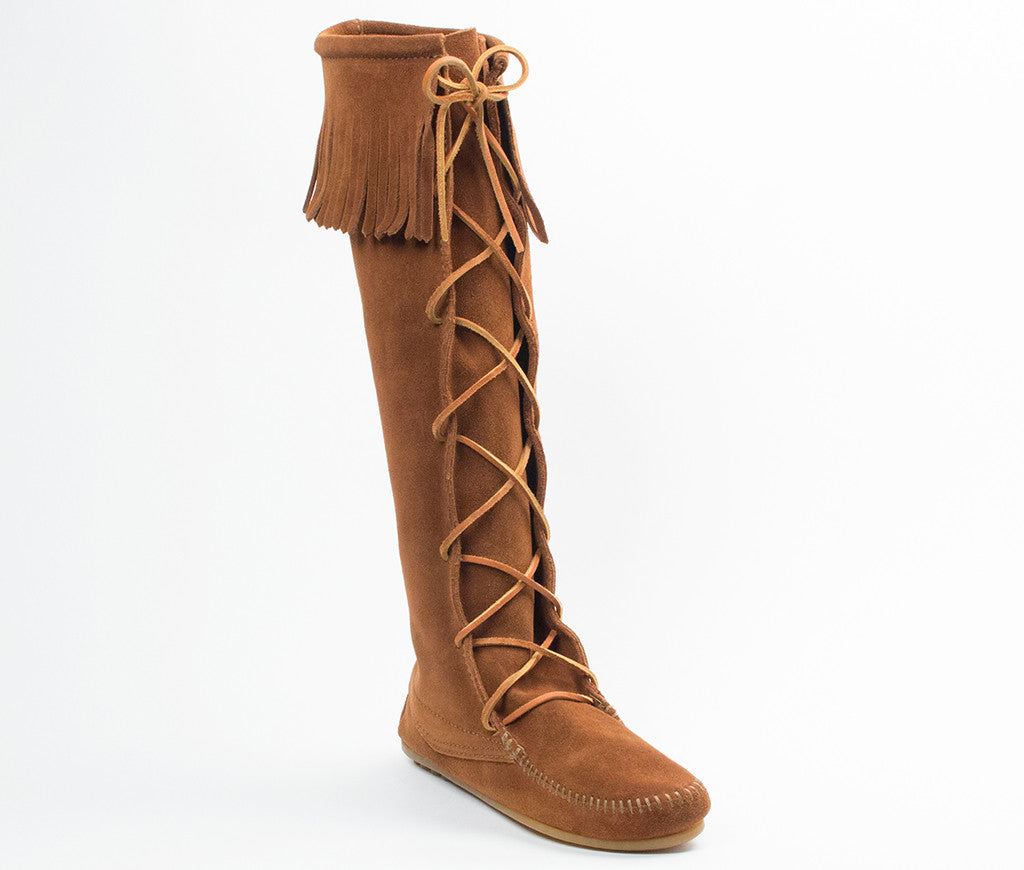 Front Lace Knee High Boot