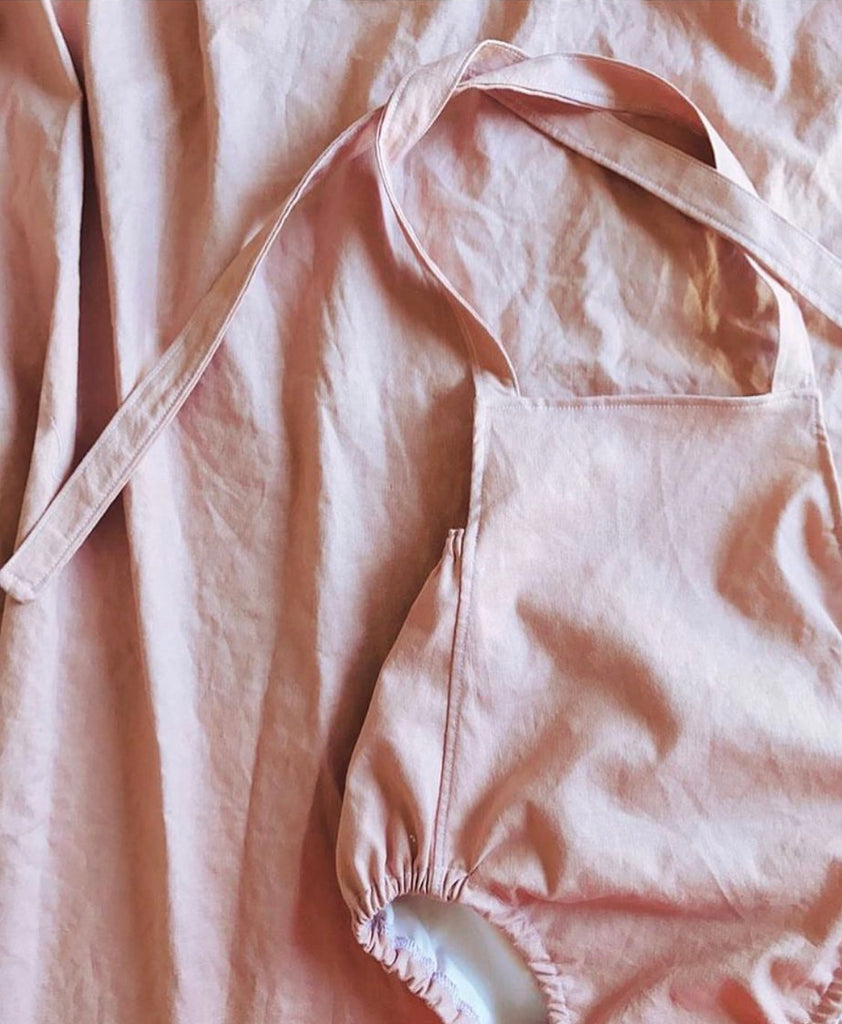 Essentials: Rose Linen Romper