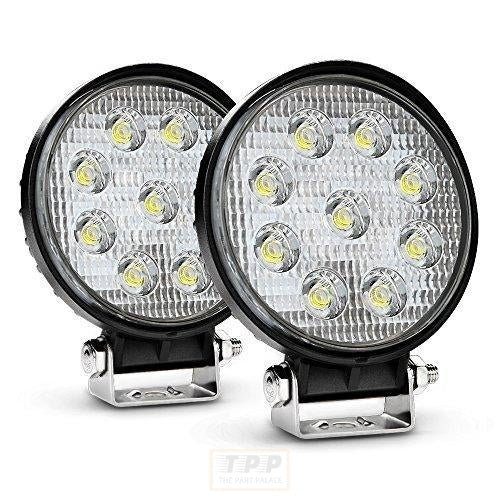 2PCS 27W Round Flood LED Light-The Part palace