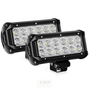 6.5 Inch Led Light Bar 2PCS 36w Flood-The Part palace