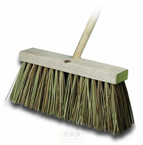 Bon 12-275 16-Inch Heavy Duty Palmyra Bristle Street Broom with 5-Feet Tapered Handle-The Part palace