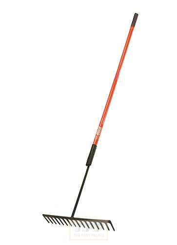 Bully Tools 92308 7-Gauge 16-Inch Asphalt Rake with 2-Piece Fiberglass Handle-The Part palace