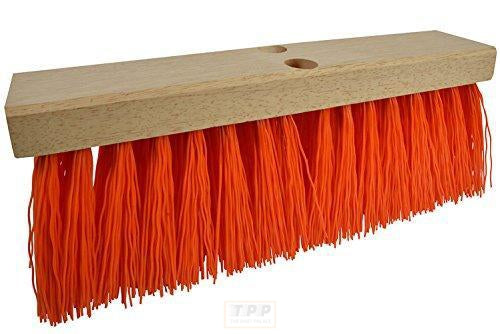 Janico 4016 Bristles Street Broom Head, 16 Inch, Orange Poly Bristles, Brown-The Part palace