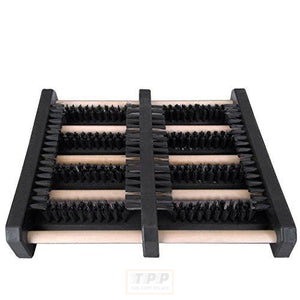 JobSite Flat Mat Boot Scrubber Brush - Wood & High Density Plastic Construction - As Seen On TV-The Part palace