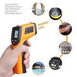 Masione Temperature Gun Non-contact Digital Laser Infrared Ir Thermometer -58°f to 716°f (-50 ~ 380℃) Instant-read Handheld,battery Included-The Part palace