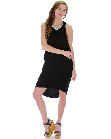 Whenever Wherever Tunic Dress In Black