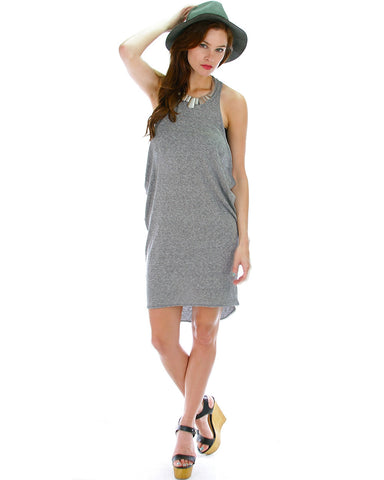 Whenever Wherever Tunic Dress In Grey