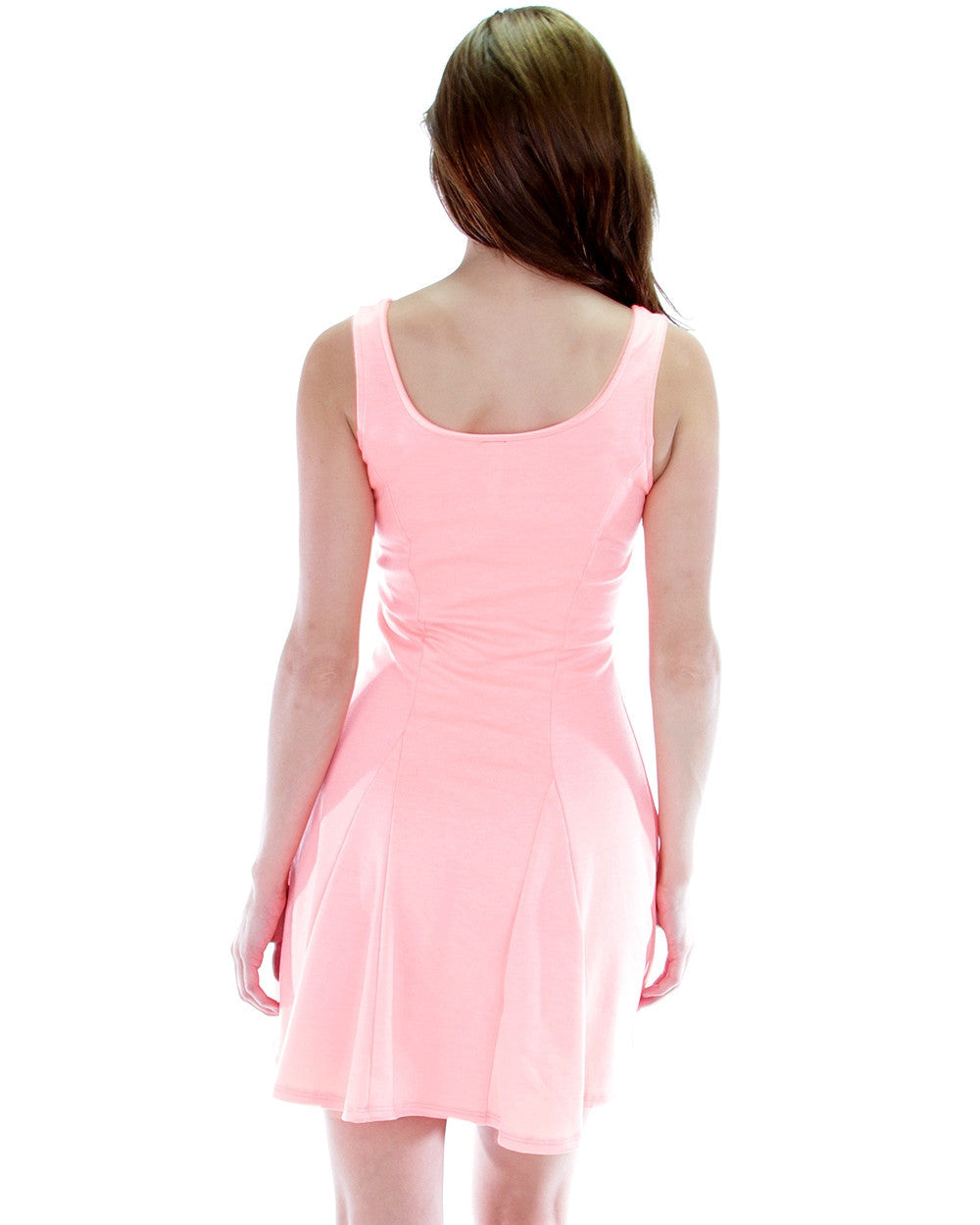 Fit & Flare Skater Dress In Coral