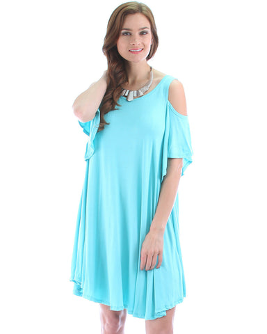 Sun Kissed Shoulders Tunic Dress In Mint
