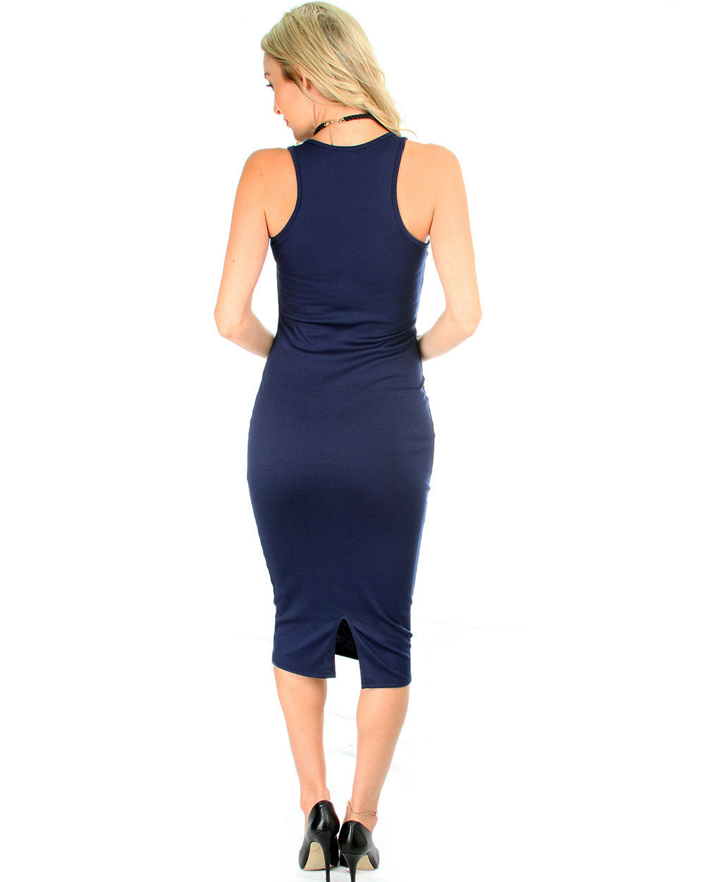 The Classic Bodycon Dress In Navy