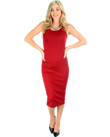 Bodycon Dress In red rose