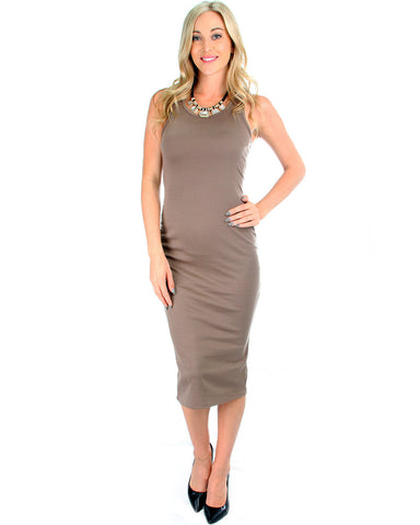 The Classic Bodycon Dress In Toffee