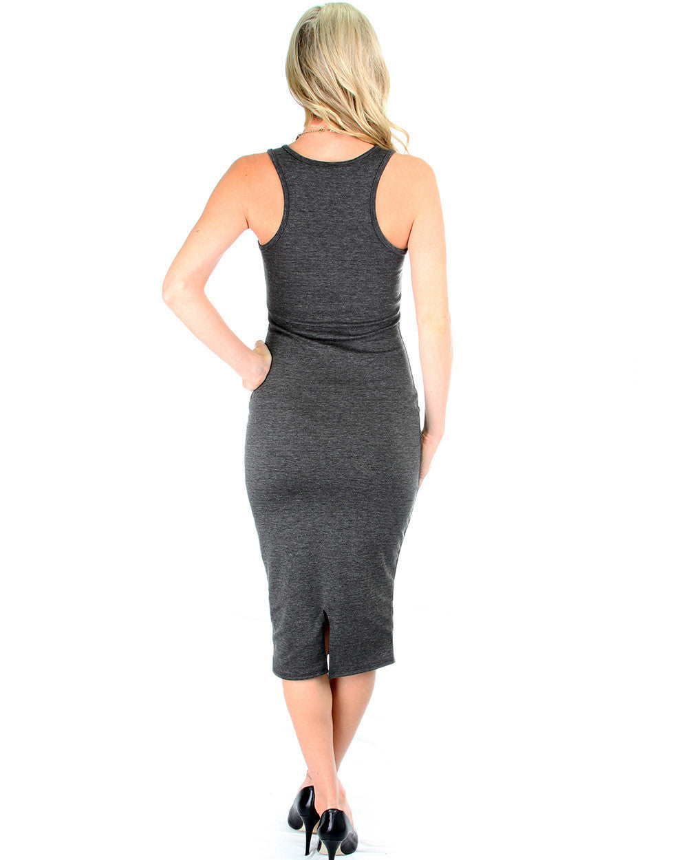 The Classic Bodycon Dress In Charcoal